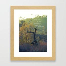 When He Sings... Framed Art Print