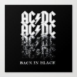 AC/DC - Back in Black Canvas Print