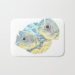 Four Eyed Butterfly Bath Mat