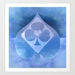 Full of Aces (Blue Version) Art Print