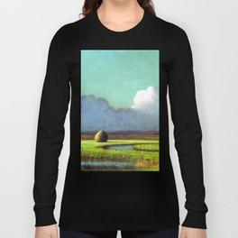 Martin Johnson Heade Sunlight Shadow Newbury Marsh Long Sleeve T-shirt