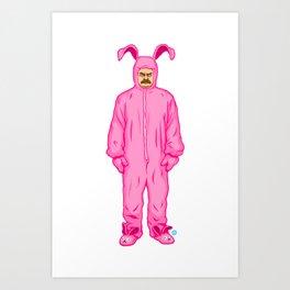 Ron Swanson's Pink Nightmare Art Print