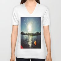 sparkle V-neck T-shirts featuring Sparkle by M.R.Power