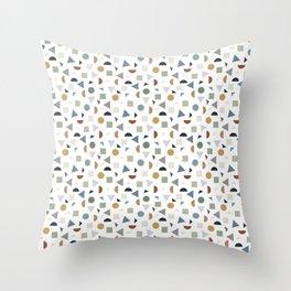 green geometric terrazzo Throw Pillow