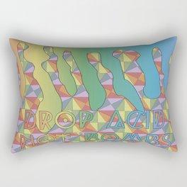 Drop Acid, Not Bombs Rectangular Pillow