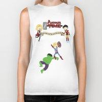 avenger Biker Tanks featuring Avenger Time! by Det Guiamoy