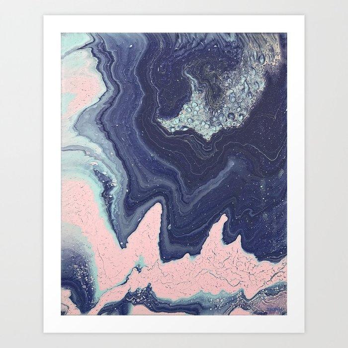 Fluid No. 11 - Geode Kunstdrucke
