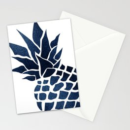 Pineapple, Big Blue, Denim Navy Stationery Cards