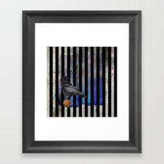 Crow Stripes Framed Art Print