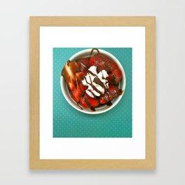 Strawberry Delight Framed Art Print