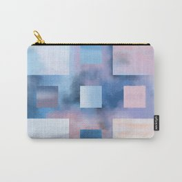 Pastel Squares (blue) Carry-All Pouch