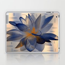 Midnight Blue Polka Dot Floral Abstract Laptop & iPad Skin