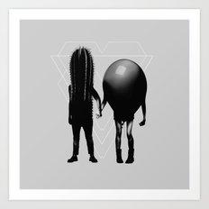 Couple B&W Art Print