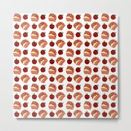 pasta pattern Metal Print
