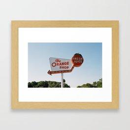 The Orange Shop Framed Art Print