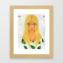 The Banana Leaf Gaze Framed Art Print