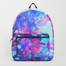 Colorful Watercolor Abstract background. Multicolor grunge psychedelic blue pink texture tie dye Backpack