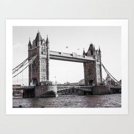 London Bridge Black & White Art Print