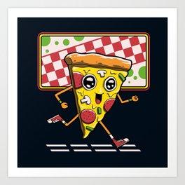 Pizza Run Art Print
