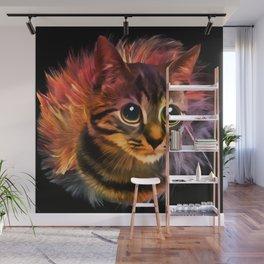 Vectorised Evil Pussycat Wall Mural