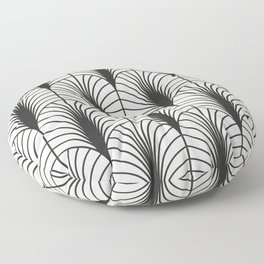 Arches in Black and White Floor Pillow