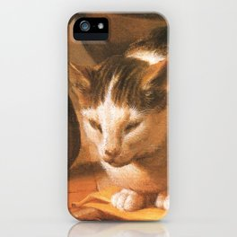 Cat in the art – Le brun – The sleep of the baby Jesus. iPhone Case