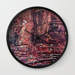 Distressed Work Acrylic Abstract Painting Wall Clock