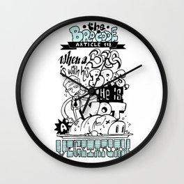 The Bro Code - Article 118 Wall Clock