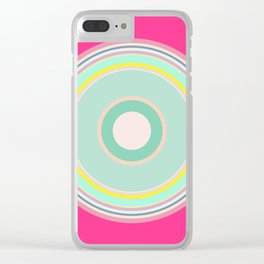 pink magenta circle Clear iPhone Case