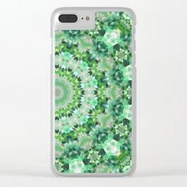 Geometric Mandala 4 Clear iPhone Case