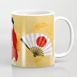 Swan Japanese Geisha Folk Art Coffee Mug