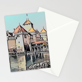 Mont-saint-michel Strongly Defined Faded Condensing Oil French Province Stationery Cards