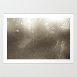 Misty Playground Art Print