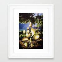 oil Framed Art Prints featuring Oil by John Turck