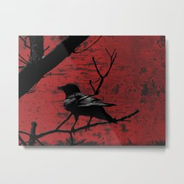 Crow Rust Industrial Red A673 Metal Print