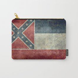 Mississippi State Flag - Distressed version Carry-All Pouch