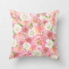 Clovers Meadow Throw Pillow