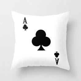 Ace of Clubs I 21 Casino Blackjack I Card Poker design Throw Pillow