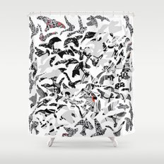 the Swarm Shower Curtain