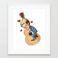 niall Framed Art Prints featuring Niall LOVE by . . x