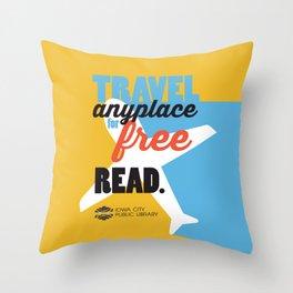 Travel - Iowa City Public Library Throw Pillow