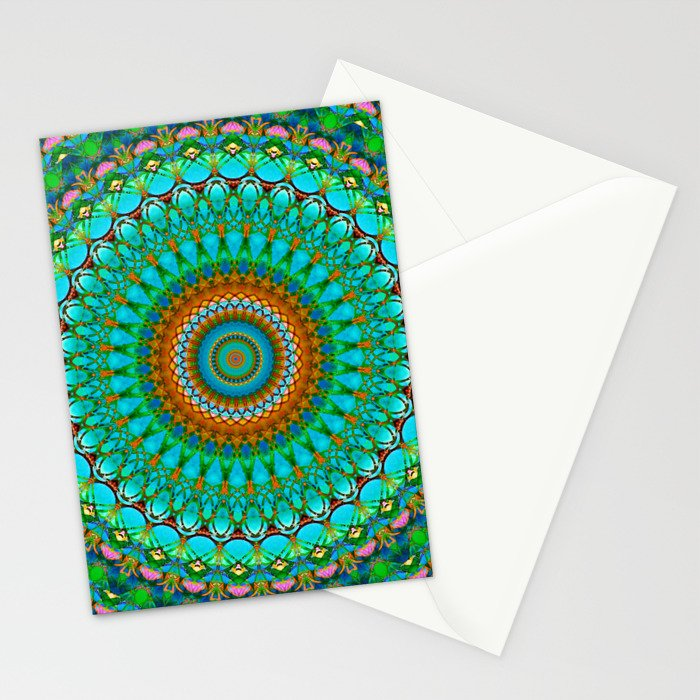 Geometric Mandala G388 Stationery Cards