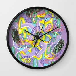 Alien Organism 5 Wall Clock