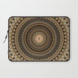 Mandala in beige and warm brown tones Laptop Sleeve
