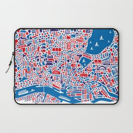 Hamburg City Map Poster Laptop Sleeve