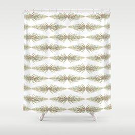 Watercolor Fern Pattern 2 Shower Curtain