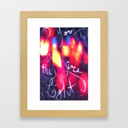 You are the Light Framed Art Print