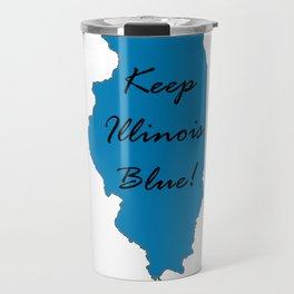 Keep Illinois Blue! Proud Vote Democrat Liberal! 2018 Midterms Travel Mug