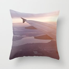 Flying Over the Puget Sound Throw Pillow