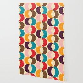 Mid Century Modern Circles Wallpaper